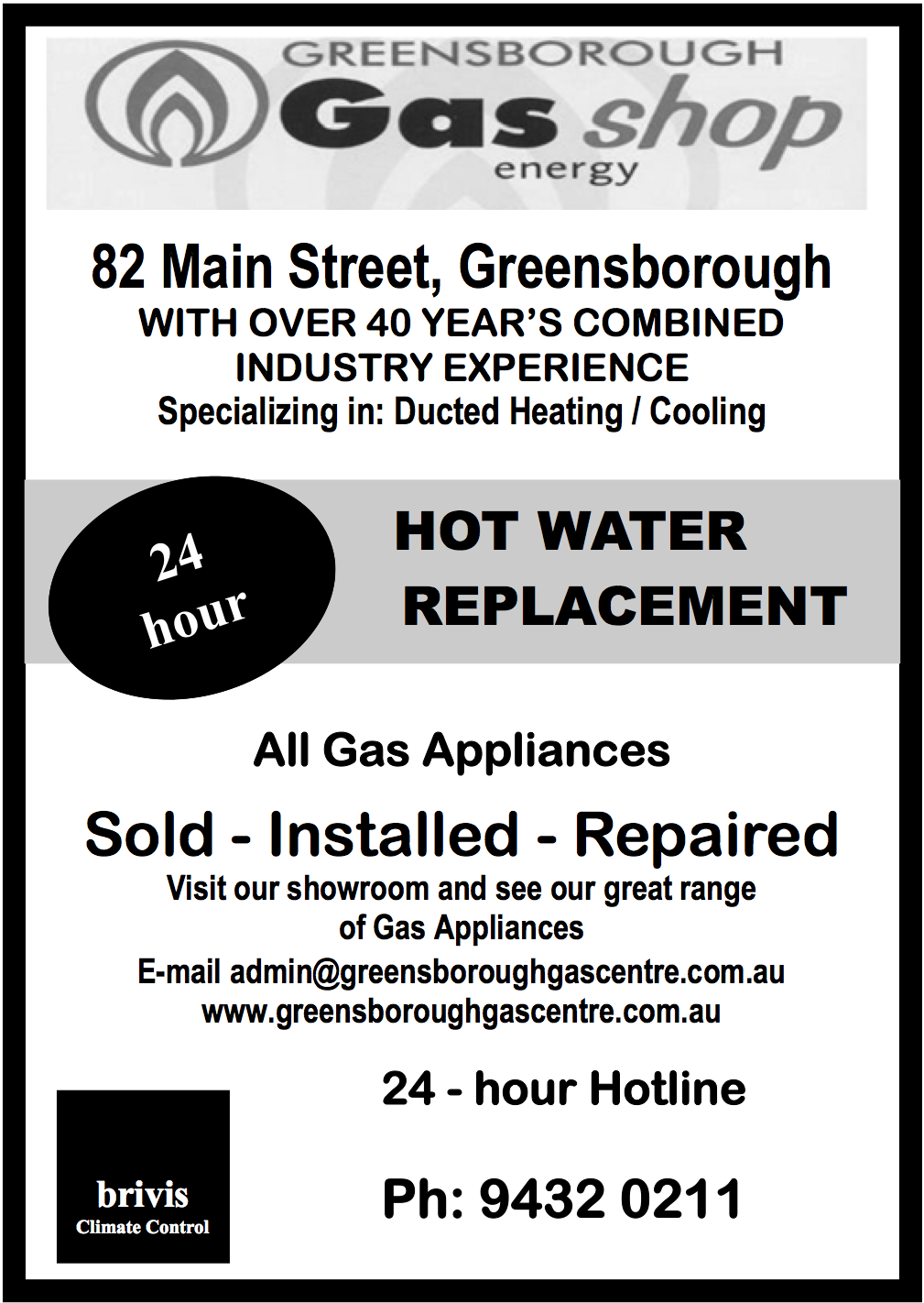 Greensborough Gas Shop